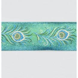 Peacock turquoise ribbon