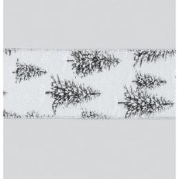 Tree ribbon black silver