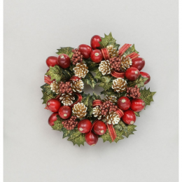 Berry cone holly candle ring red 3