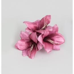 Amaryllis clip mauve 20cm