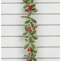 6ft holly berry garland