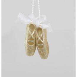 Glitter ballet shoe gold