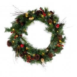 Cone berry acorn wreath