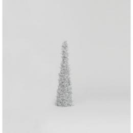 45cm crystal bead conetree silver