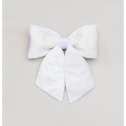 28cm plush bow decoration cream