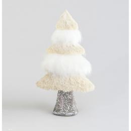 Tree ornament beige whte 30cm