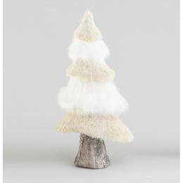 Tree ornament beige whte 43cm